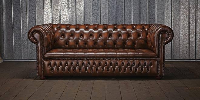 canape cuir anglais chesterfield
