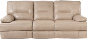 canape cuir beige