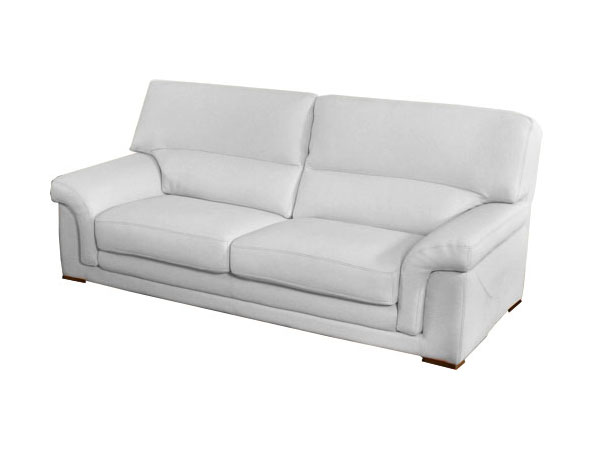 canape cuir blanc 2 places convertible