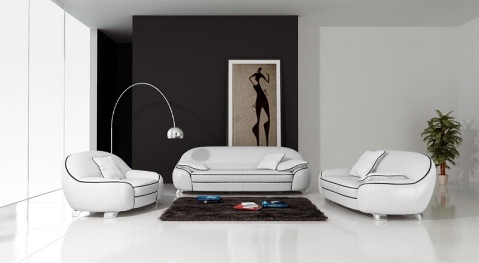 canape cuir blanc 3+2+1