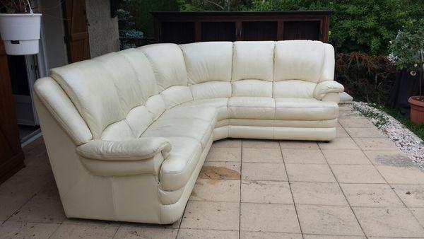 canape cuir blanc angle