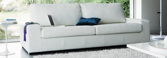 canape cuir blanc contemporain
