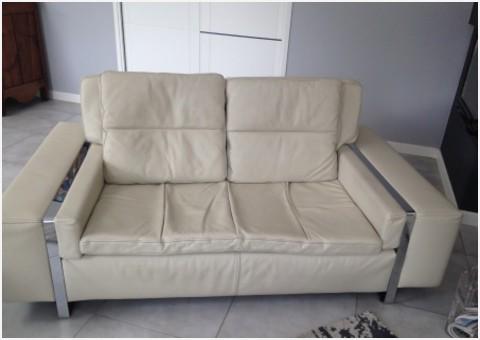 canape cuir blanc crozatier
