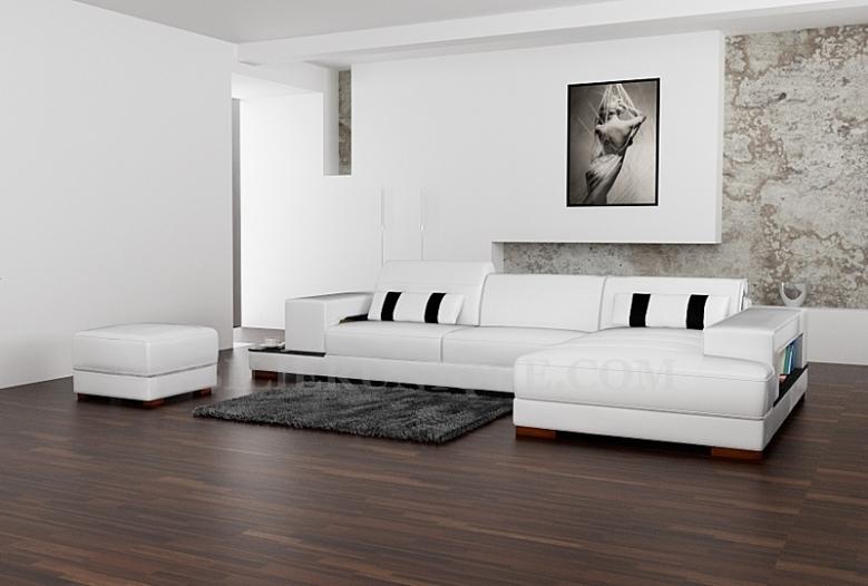 canape cuir blanc design italien
