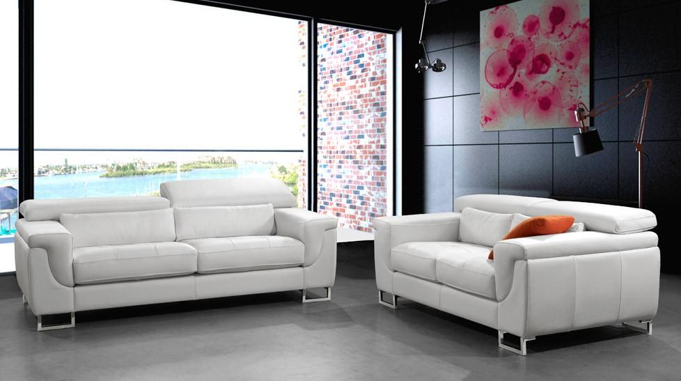 canape cuir blanc design pas cher