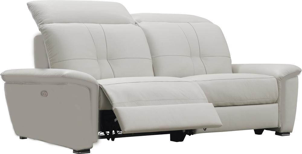 canape cuir blanc electrique