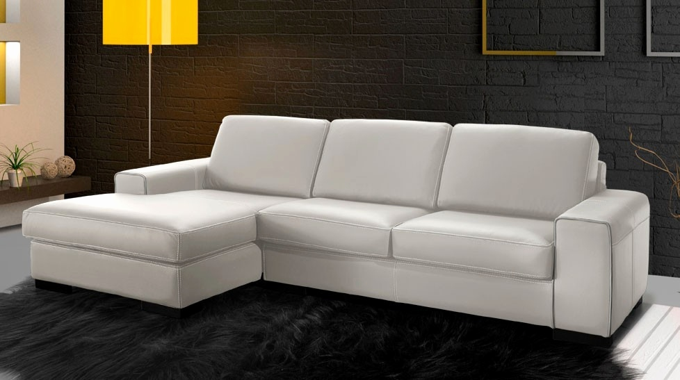 canape cuir blanc gautier