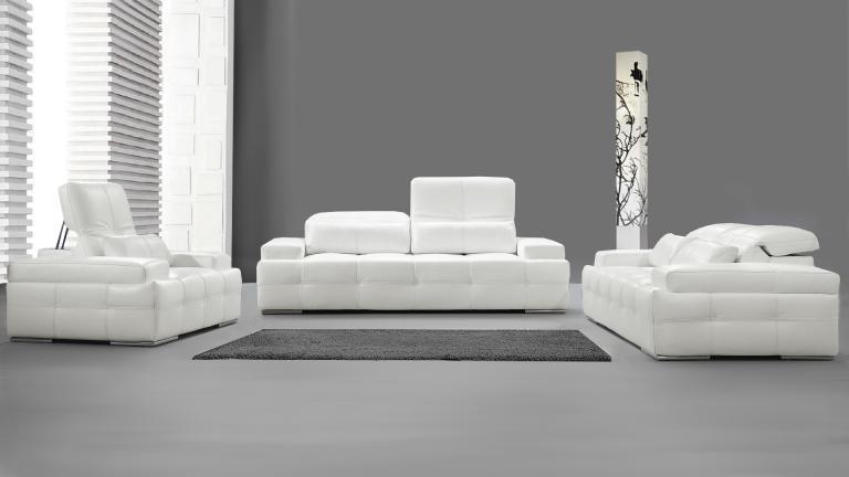 canape cuir blanc moderne