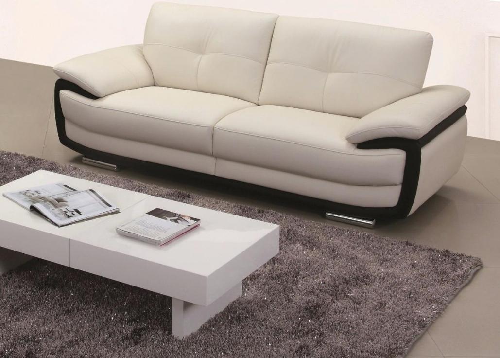 canape cuir blanc monsieur meuble