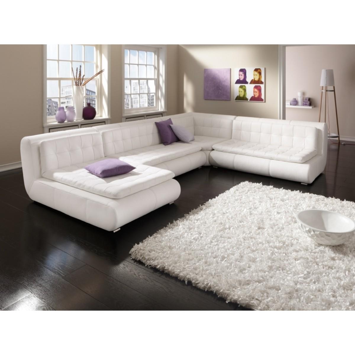 canape cuir blanc panoramique