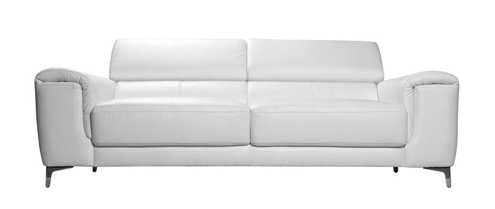 canape cuir blanc relax