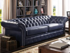 canape cuir bleu nuit