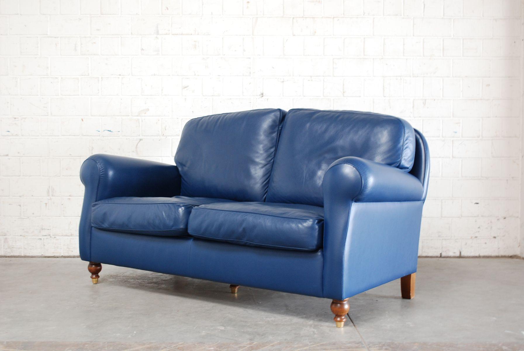 canape cuir bleu