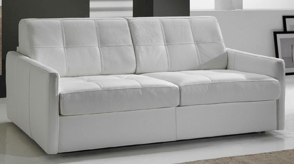 canape cuir convertible 2 places d'angle