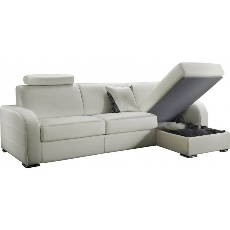 Canape Cuir Convertible 2 Places D Angle