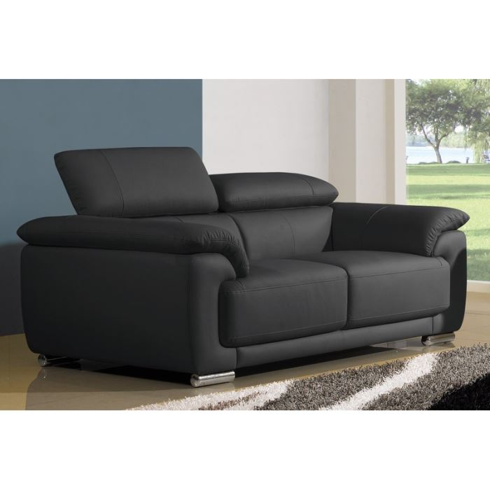 canape cuir convertible 2 places