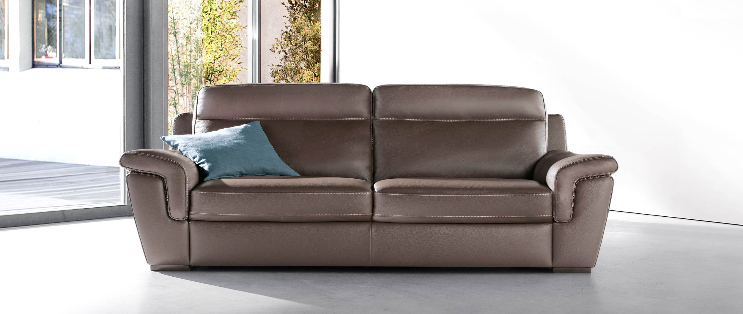 canape cuir convertible 3 places cuir center