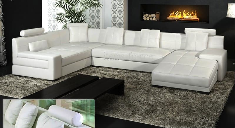 canape cuir convertible 6 places