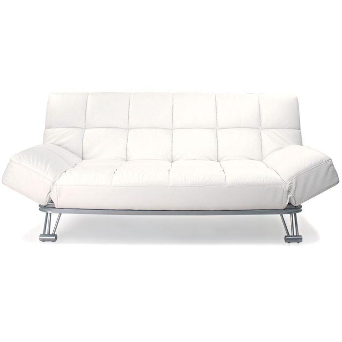 canape cuir convertible blanc