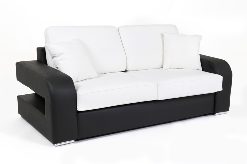 canape cuir convertible couchage 160