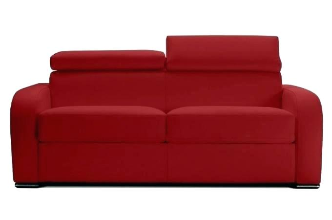 canape cuir convertible couchage quotidien