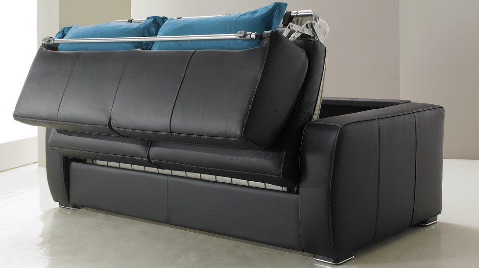 canape cuir convertible design