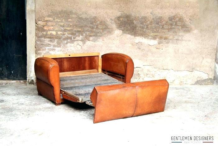 canape cuir convertible vintage