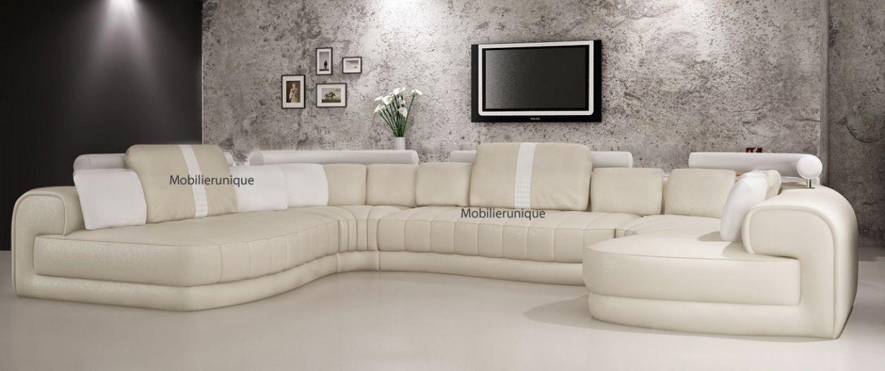 canape cuir design haut de gamme