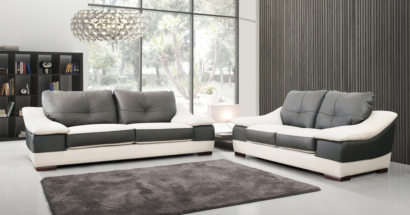 canape cuir design italien