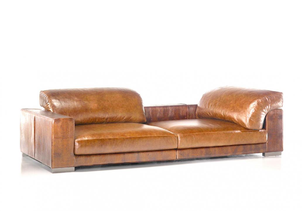 canape cuir marron clair
