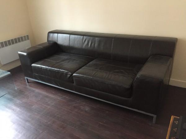 canape cuir marron ikea. Black Bedroom Furniture Sets. Home Design Ideas