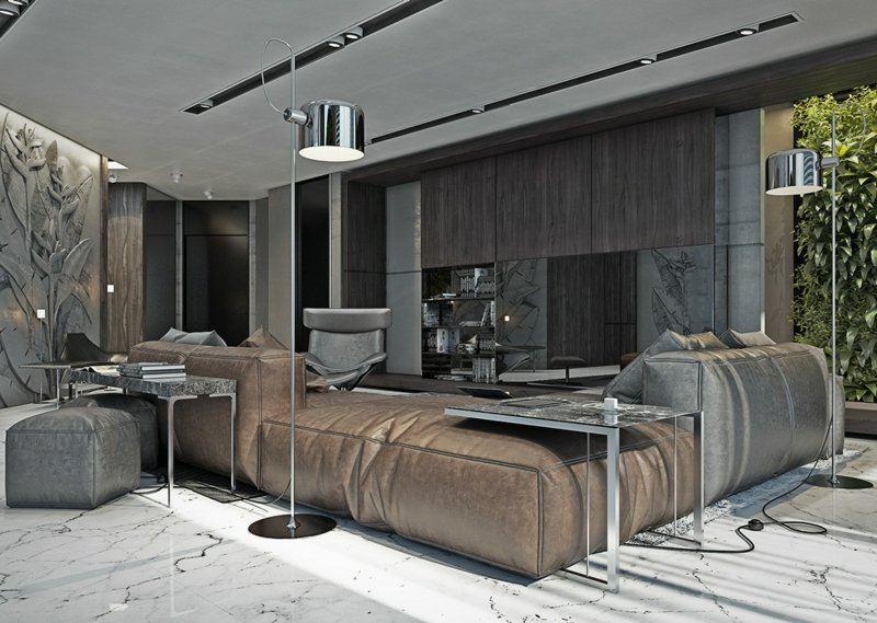 canape cuir minimaliste