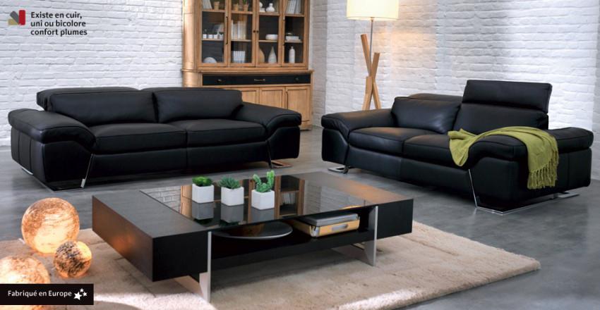 canape cuir mobilier de france - Canape Mobilier De France
