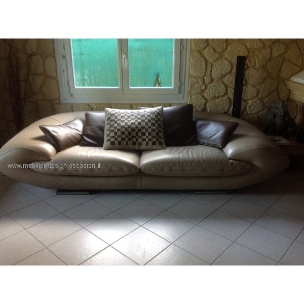canape cuir mobilier de france