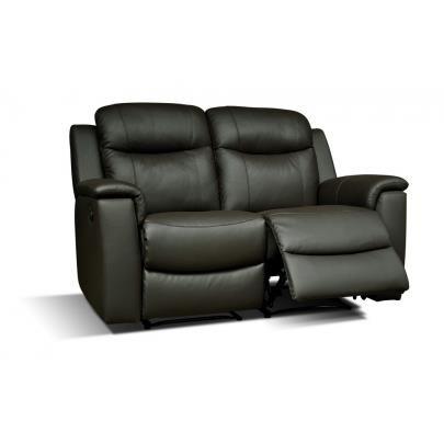 canape cuir noir 2 places relax