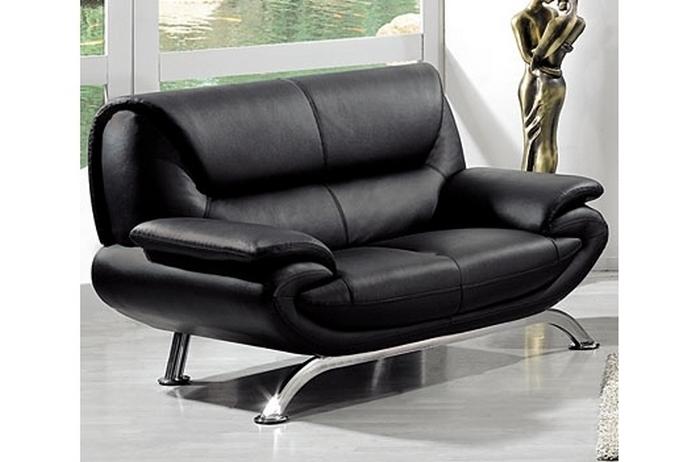canape cuir noir 2 places