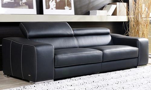 canape cuir noir convertible