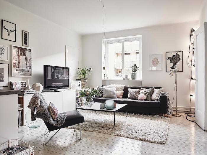 Canape Cuir Noir Deco