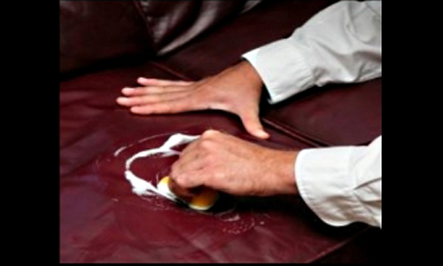 canape cuir noir entretien