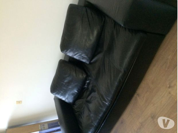 canape cuir noir habitat