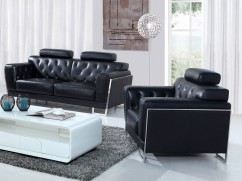 canape cuir noir moderne