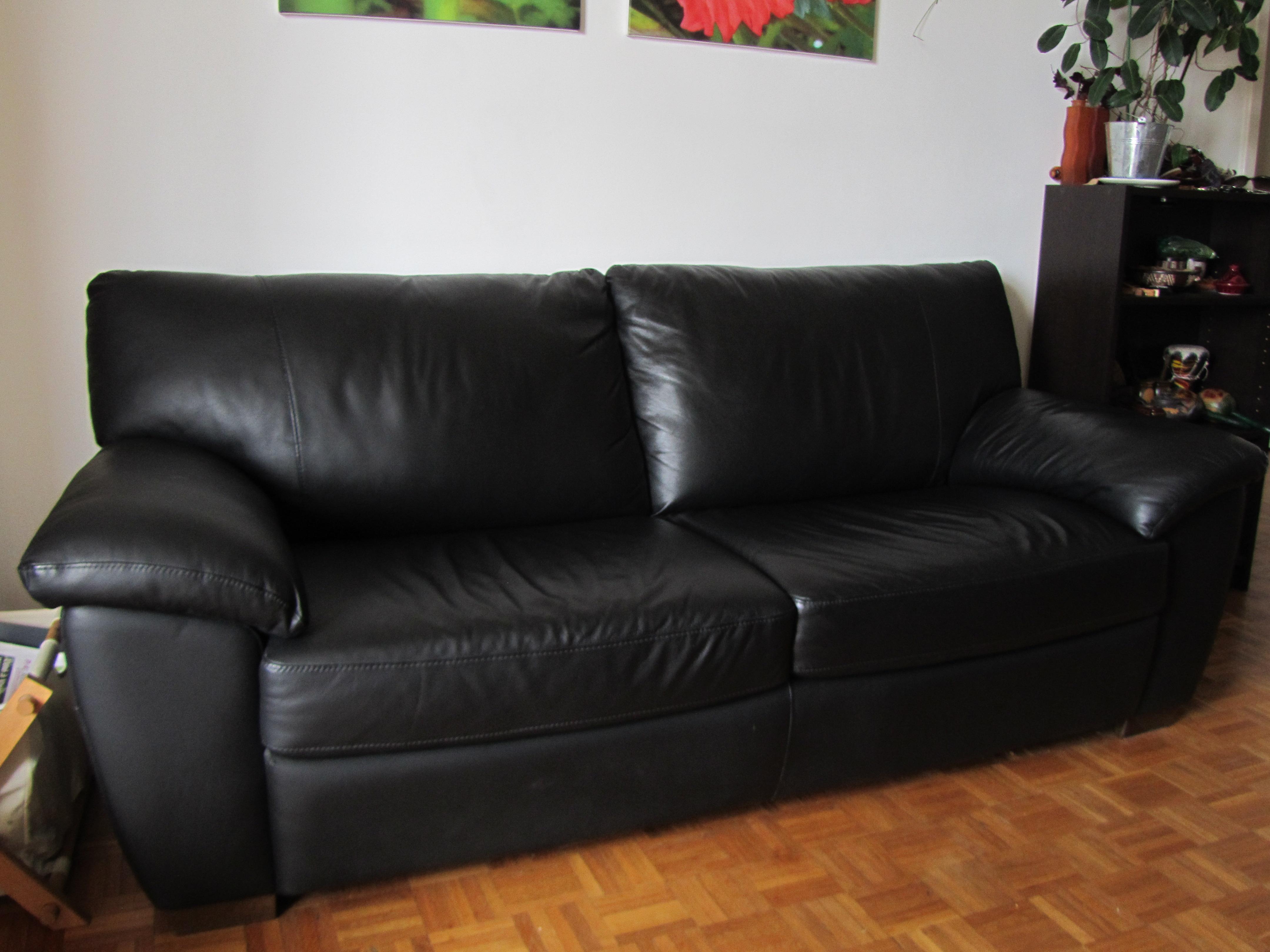 canape cuir noir occasion