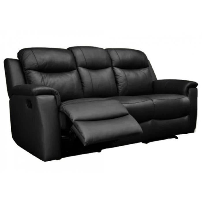 canape cuir noir relax