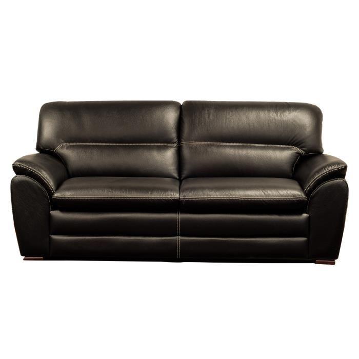 canape cuir noir