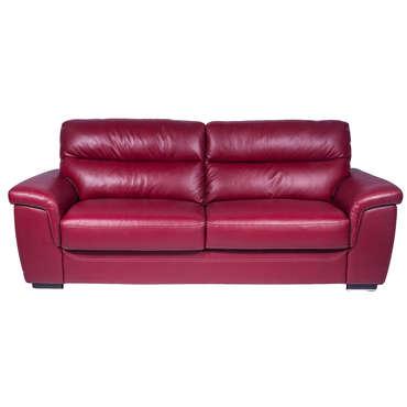 canape cuir rouge conforama