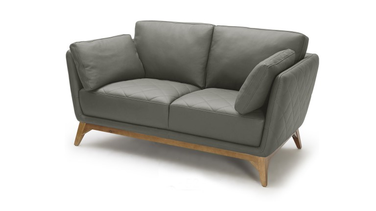 canape cuir style scandinave