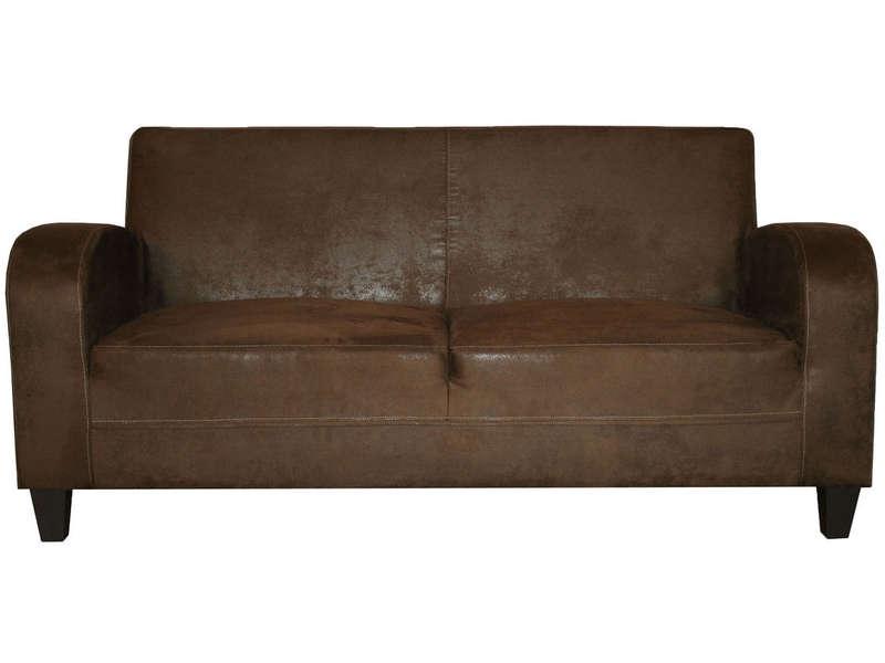 canape cuir vieilli conforama