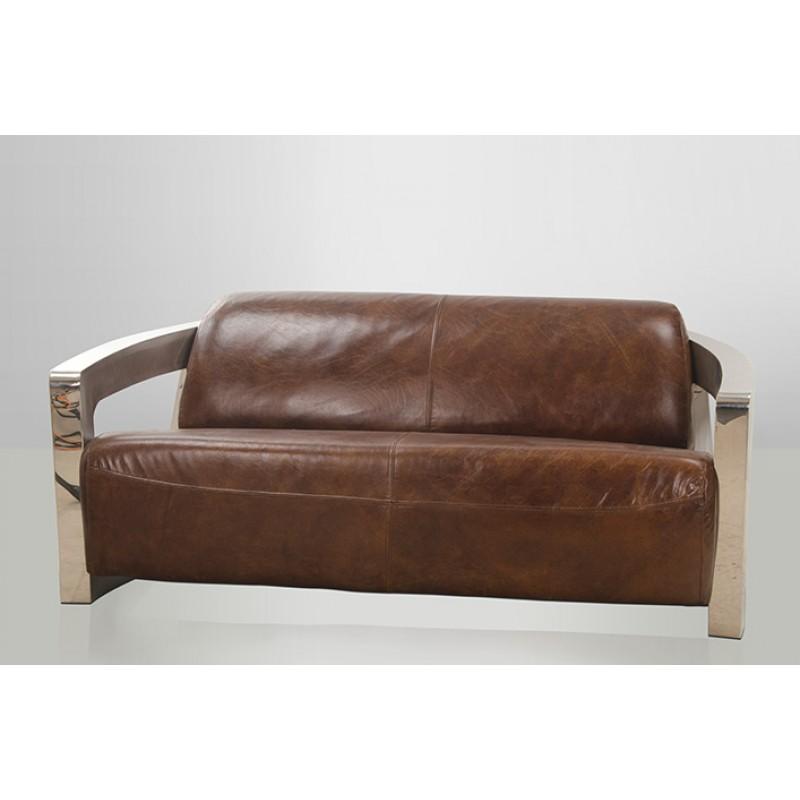 canape cuir vintage