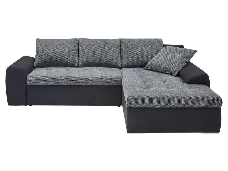 Canape D Angle Convertible Cuir Et Tissu