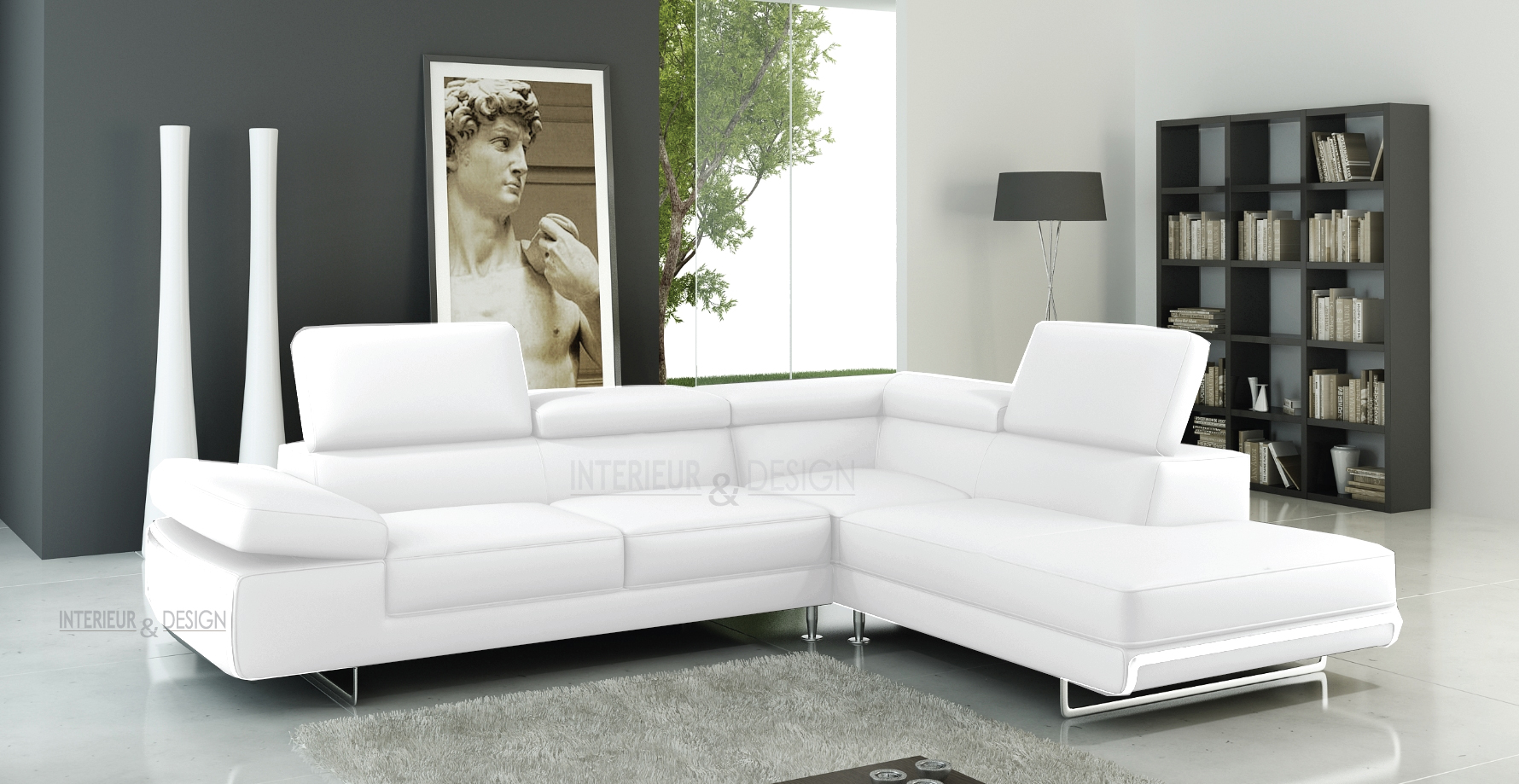 canape d'angle convertible cuir italien